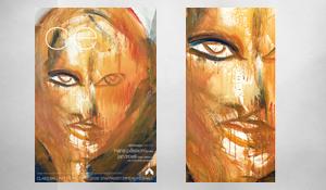 Utställningsaffisch och vernissagekort
